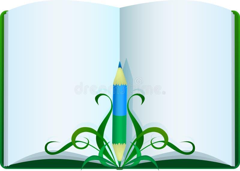 książkowy ołówek royalty ilustracja