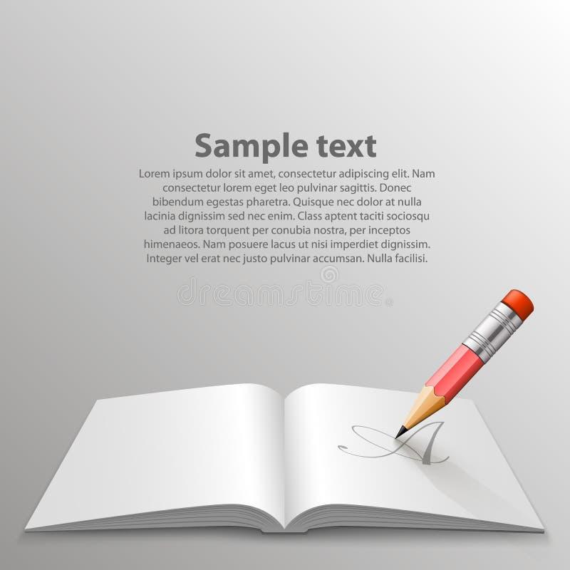 książkowy ołówek ilustracji