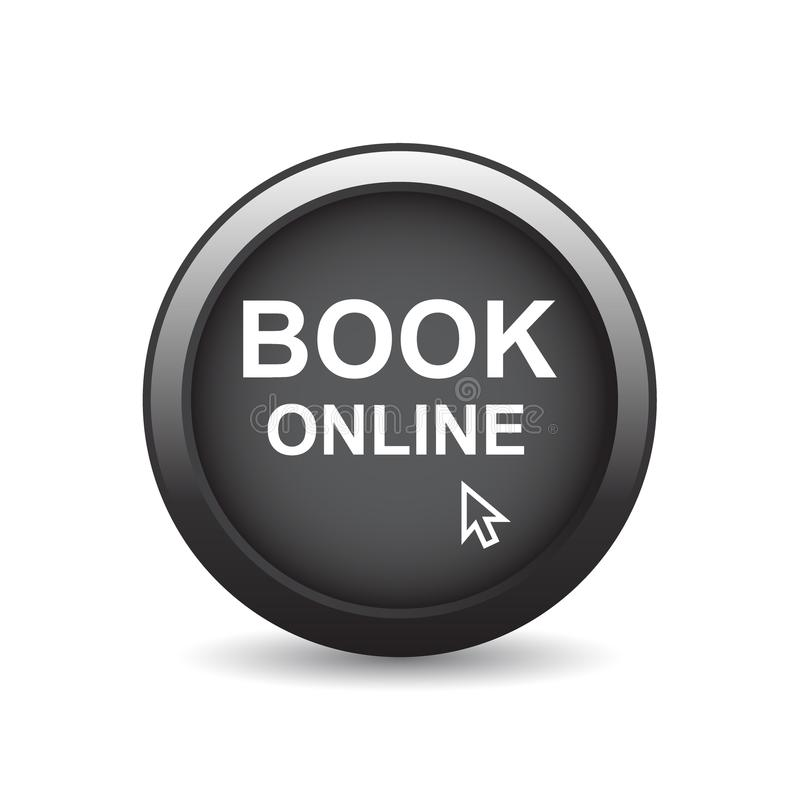 Książkowy online sieć guzik ilustracja wektor