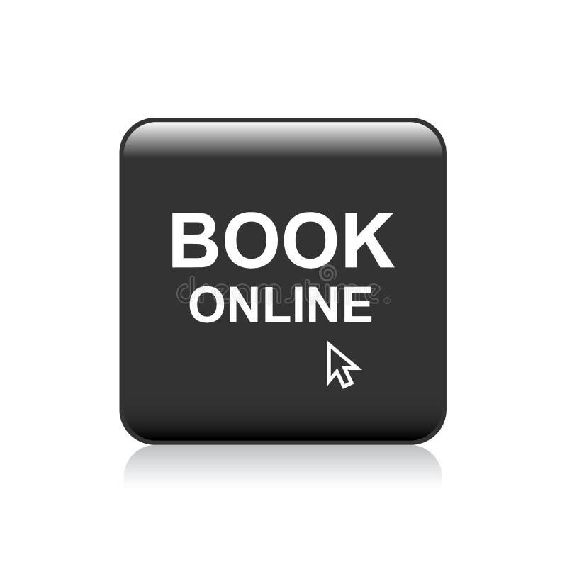 Książkowy online sieć guzik ilustracji