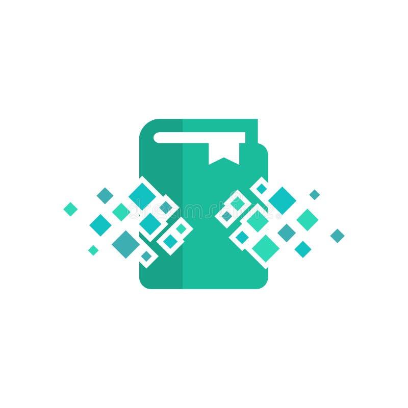 Książkowy piksla loga ikony projekt ilustracja wektor