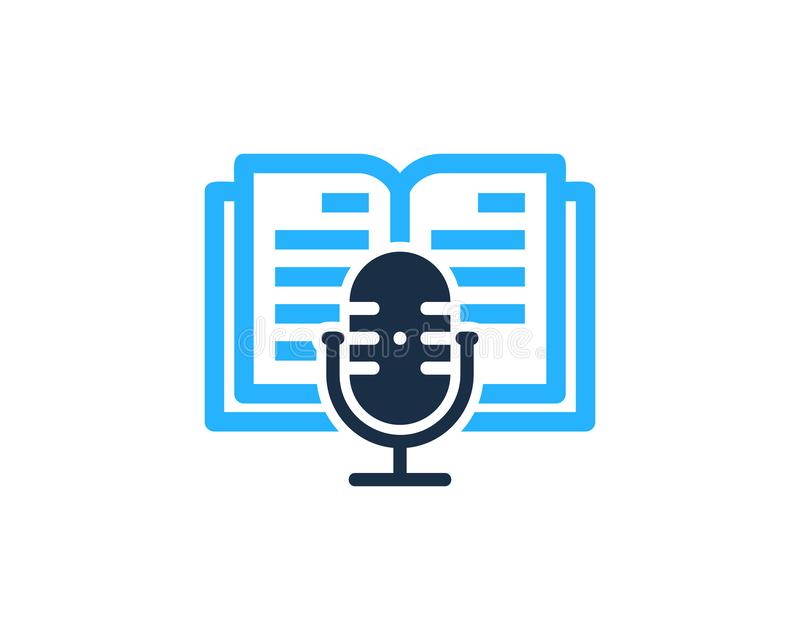 Książkowy Podcast loga ikony projekt royalty ilustracja