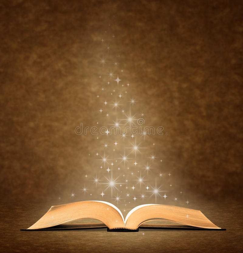 książkowy stary otwiera ilustracja wektor