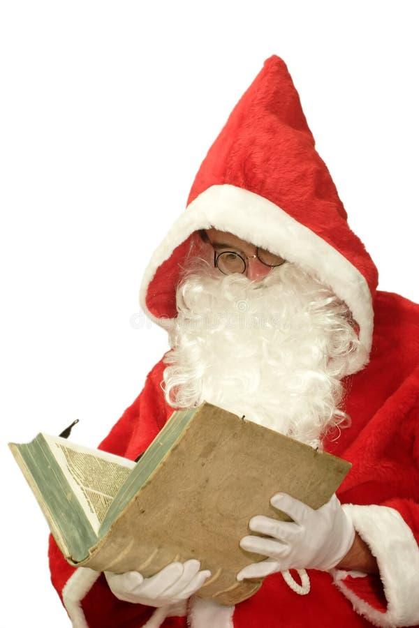 książkowy stary Santa fotografia royalty free