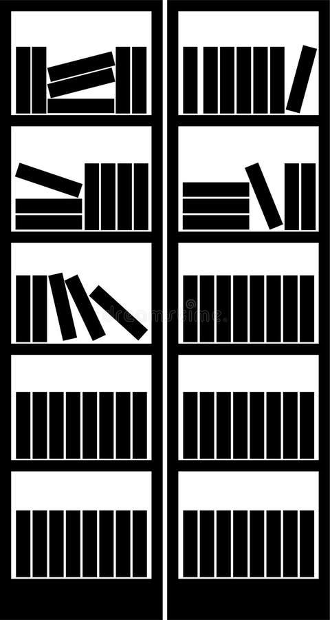książkowy stojak ilustracja wektor