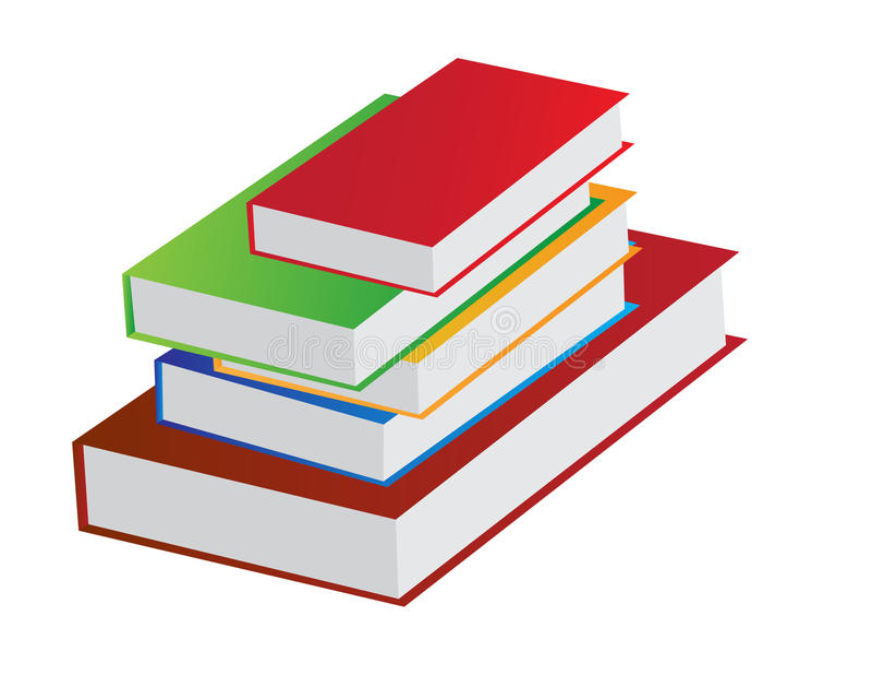 Książkowy stos ilustracji