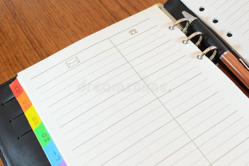 książkowy telefon fotografia stock