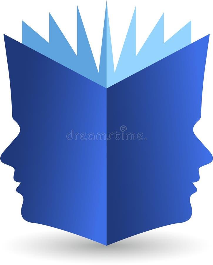 Książkowy twarz logo ilustracji