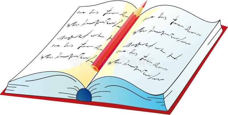 książkowy wektor ilustracji
