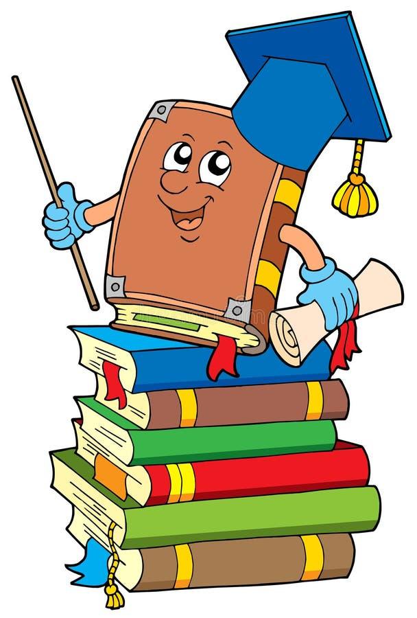 książkowych książek palowy nauczyciel royalty ilustracja