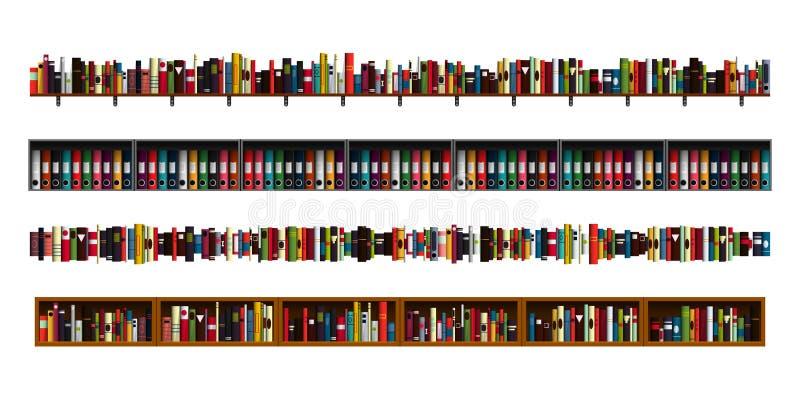 Książkowych półek granicy ustawiać ilustracji