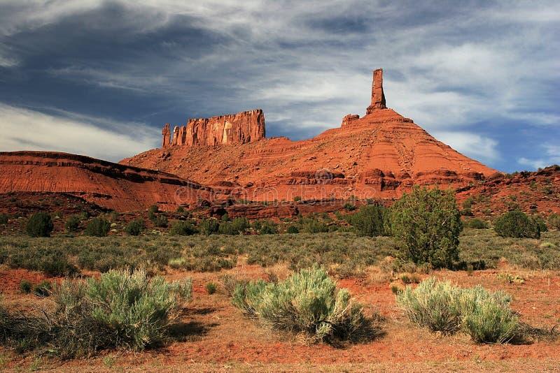 Ksiądz i magdalenki w Grodowej dolinie blisko Moab, UT fotografia royalty free