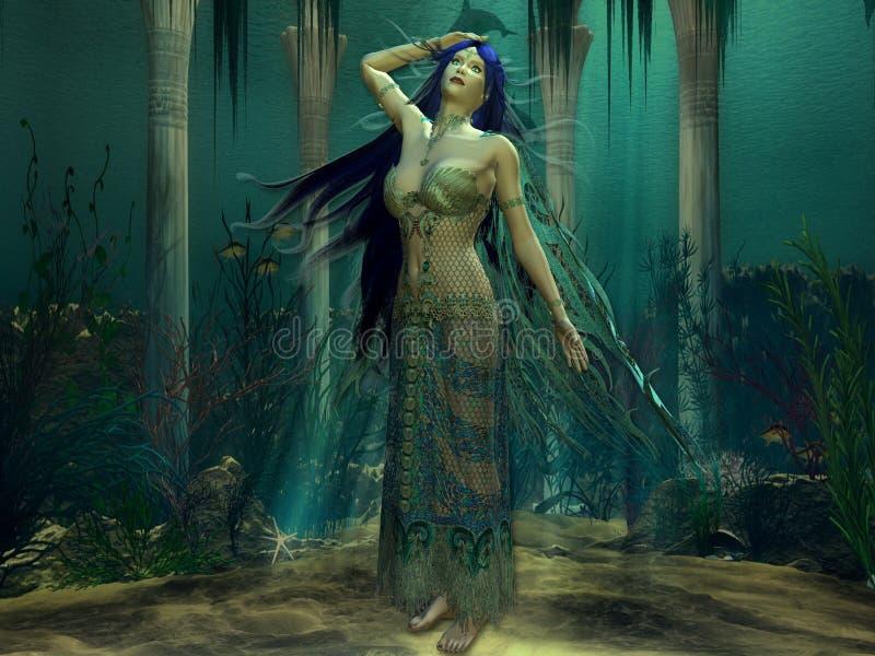 księżniczka atlantis. ilustracja wektor