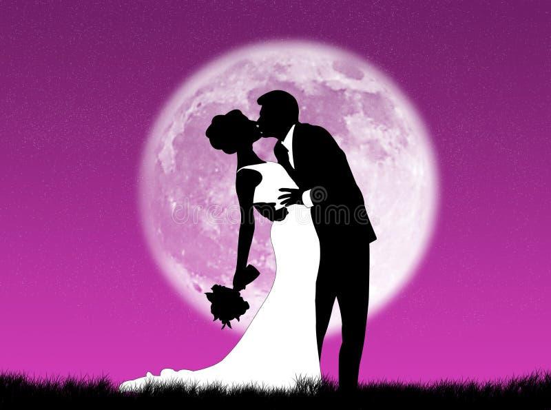 księżyc śluby ilustracja wektor