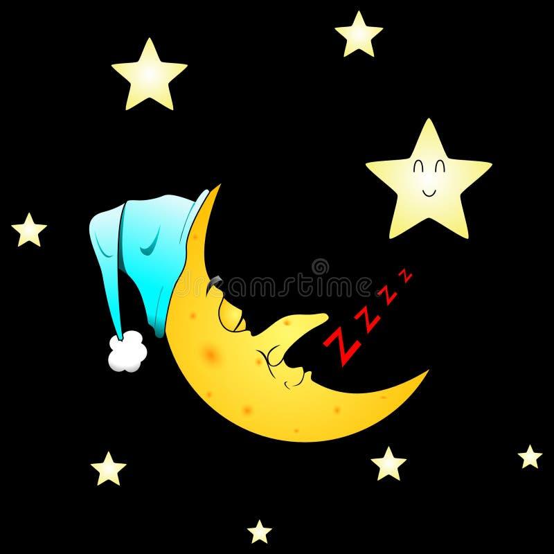 księżyc śpi obraz royalty free