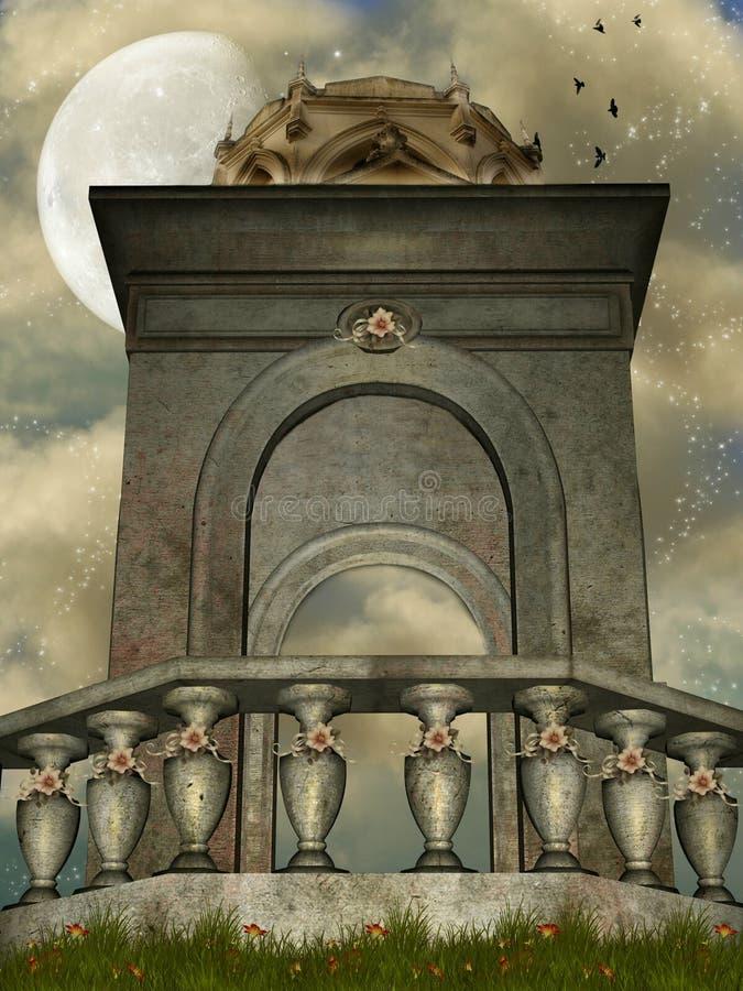 Księżyc świątynia ilustracji