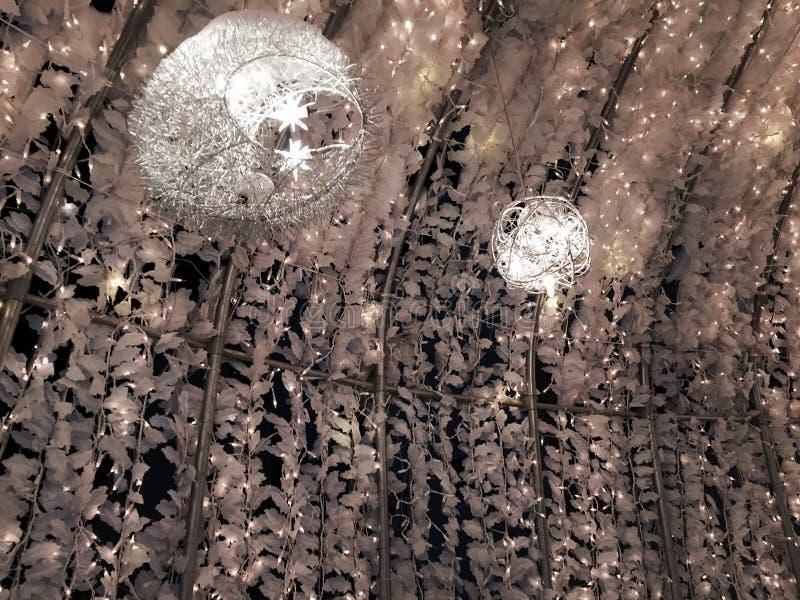 Księżyc światło biały latarniowy festiwal w Sapporoï ¼ ŒHokkaidoï ¼ ŒJapan obraz stock