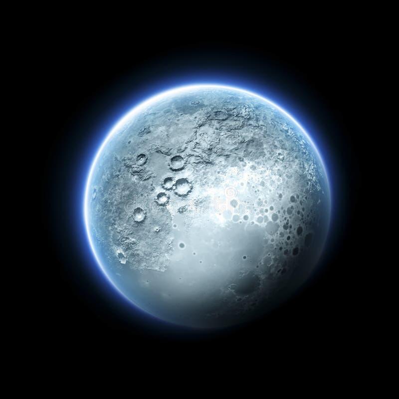 Download Księżyc ilustracji. Ilustracja złożonej z astronomia - 53779197