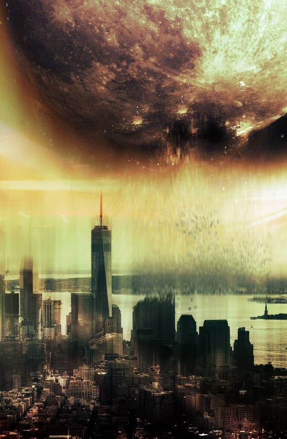 Księżyc apocalypse ilustracja wektor
