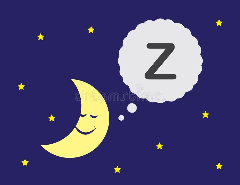 Księżyc dosypianie ilustracji