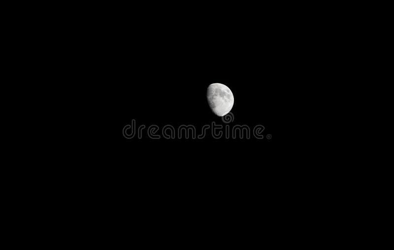 Księżyc 3/4 folująca obraz royalty free