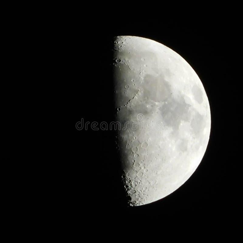 Księżyc 35% folujący fotografia stock