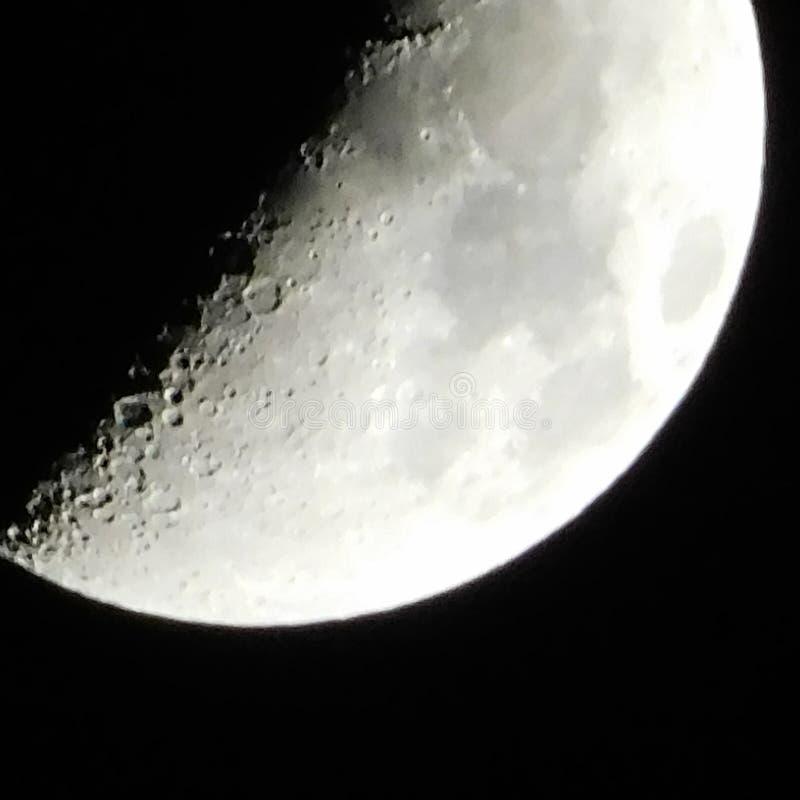 Księżyc 30% folujący obraz royalty free