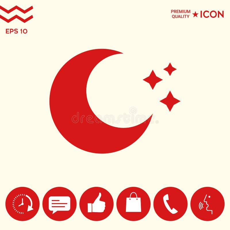 Księżyc gra główna rolę ikonę ilustracji