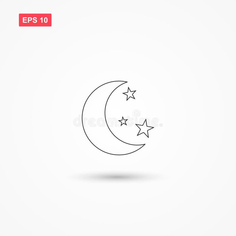 Księżyc gra główna rolę ikona wektor 2 royalty ilustracja