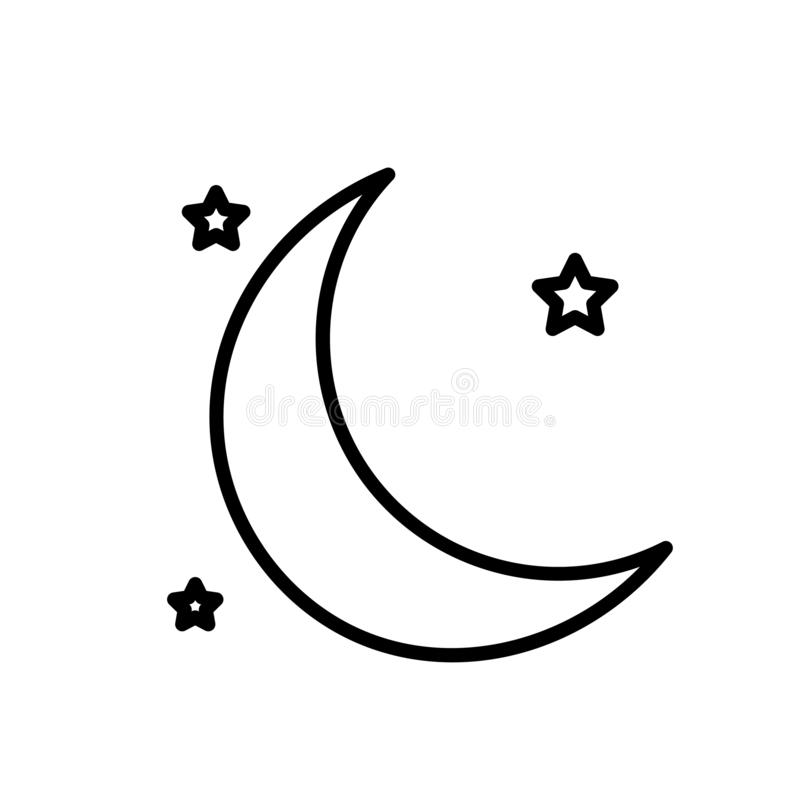 Księżyc i gwiazd ikony wektor royalty ilustracja