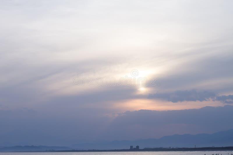 Księżyc i nieba krajobrazy zdjęcia royalty free