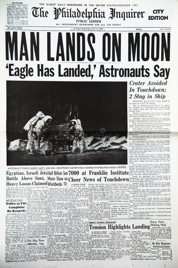 Księżyc lądowanie fotografia stock