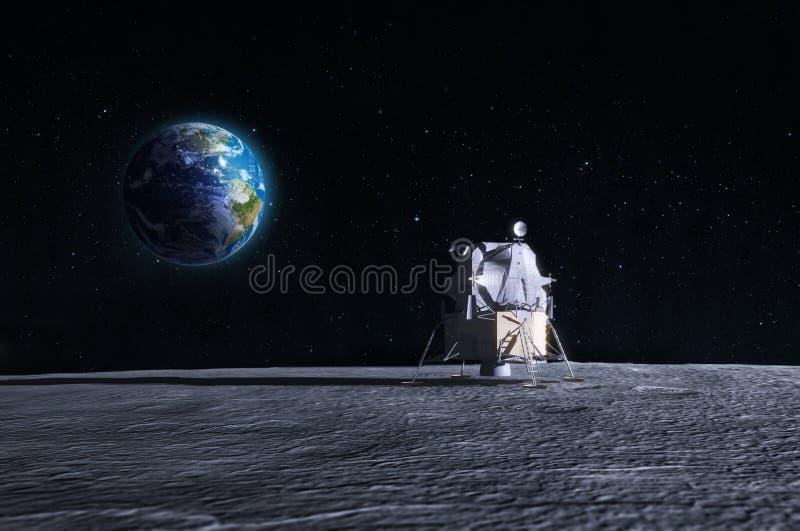 Księżyc lądowanie royalty ilustracja