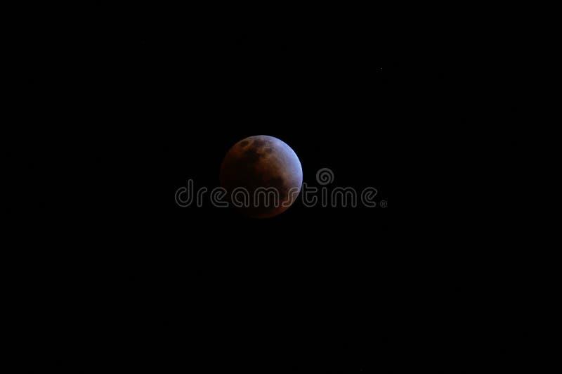 księżyc - luna, zaćmienie nad morzem zdjęcia royalty free