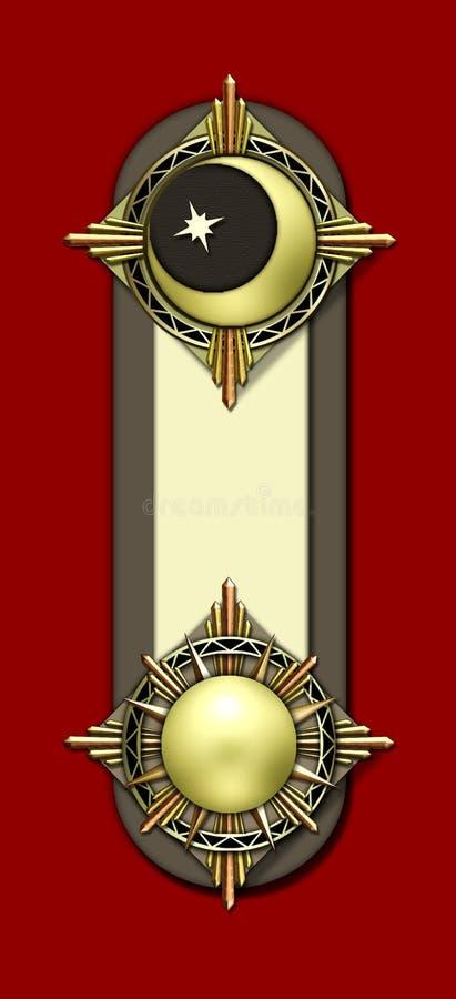 księżyc motywu słońce ilustracja wektor