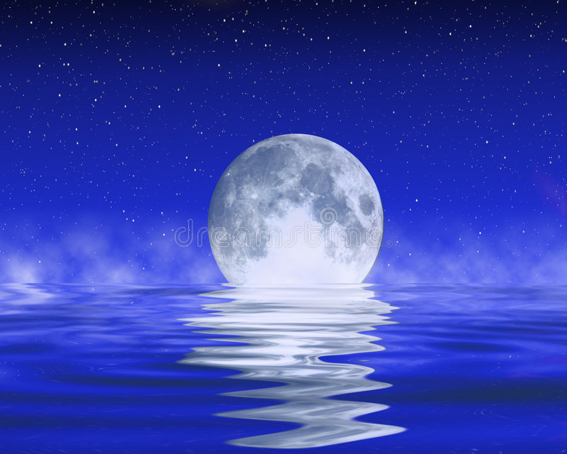 Księżyc na horyzoncie royalty ilustracja