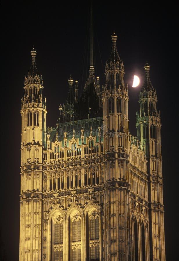 Księżyc nad opactwo abbey w Londyn, Anglia zdjęcia stock