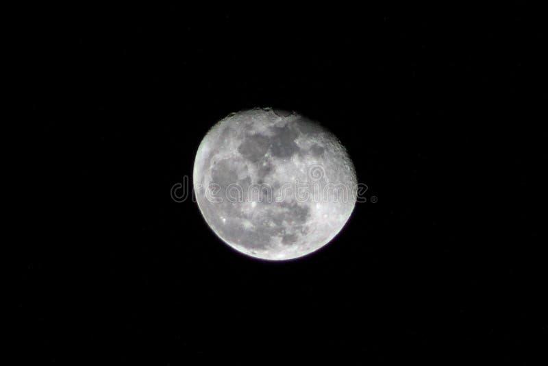 Księżyc nocnego nieba blasku księżyca cień obraz royalty free