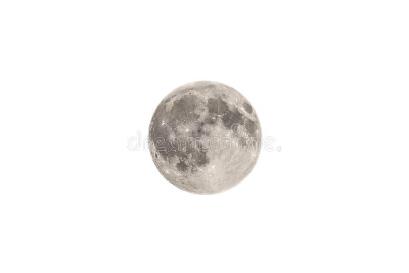 Księżyc Odizolowywająca Na bielu fotografia royalty free