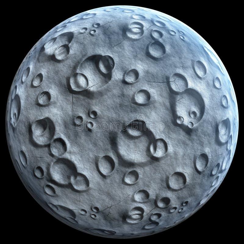 Księżyc odizolowywająca na czarnym tle zdjęcie royalty free