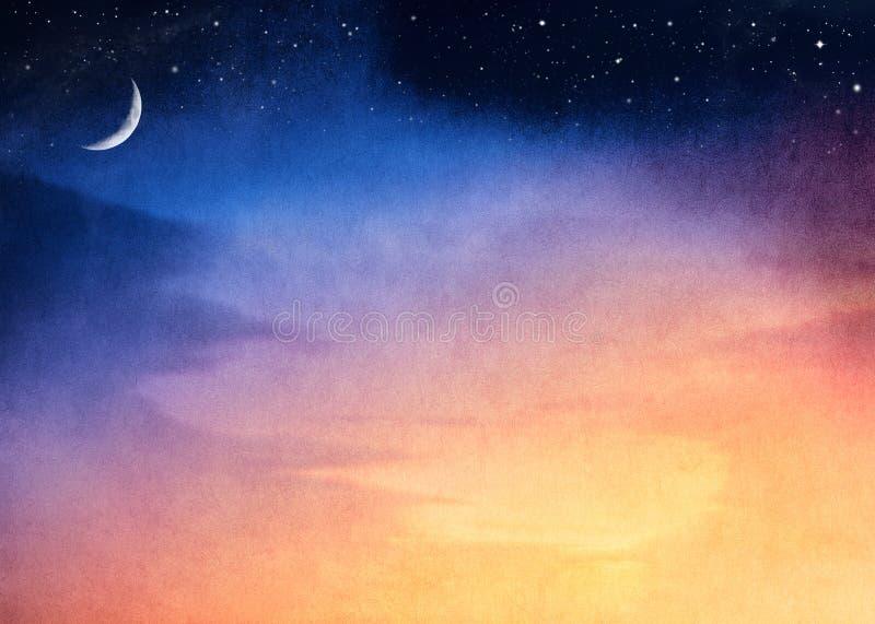 księżyc Półksiężyc zmierzch obrazy stock