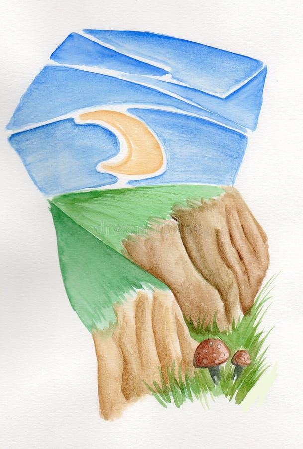 księżyc pieczarki zdjęcie stock