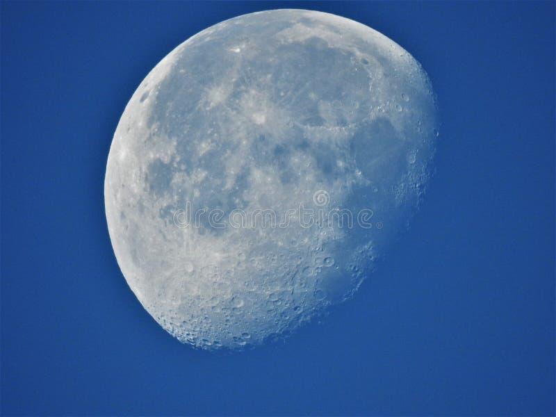 Księżyc powierzchnia w czarny i biały fotografia royalty free