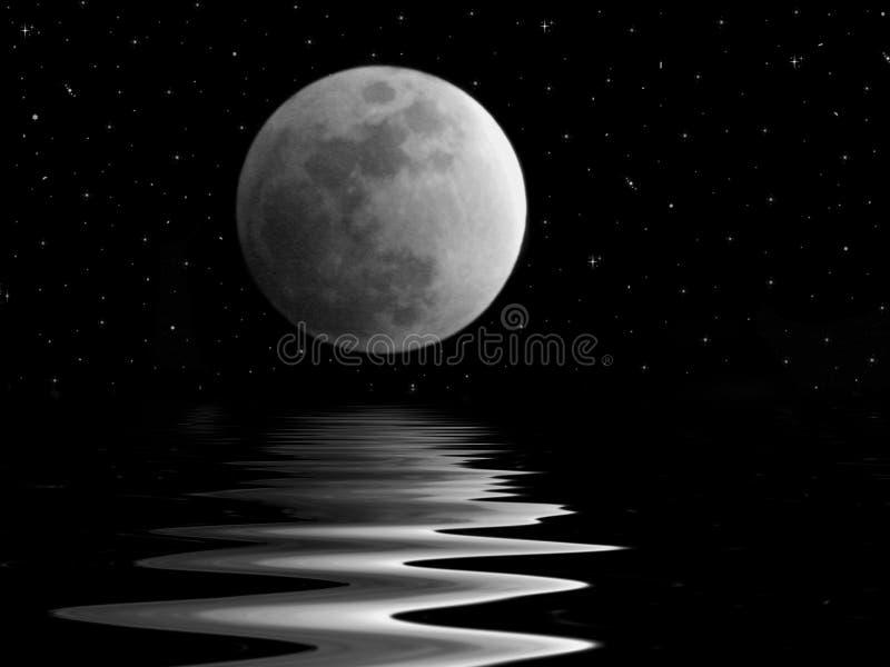 Księżyc promienie fotografia stock