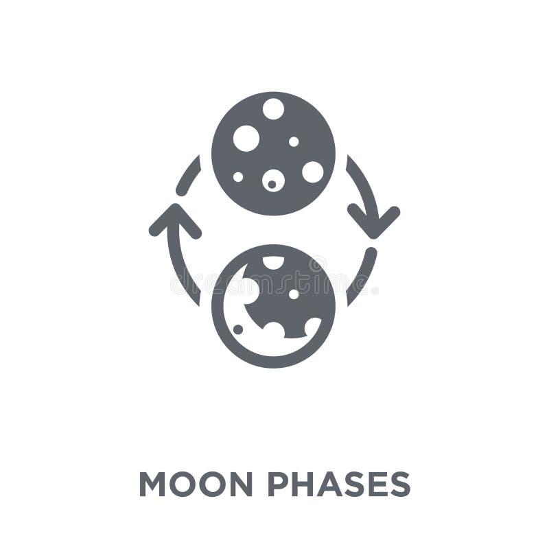 Księżyc przeprowadza etapami ikonę od astronomii kolekcji royalty ilustracja
