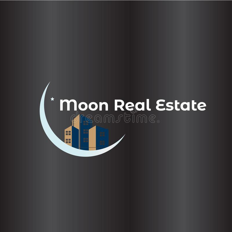 Księżyc Real Estate logo royalty ilustracja