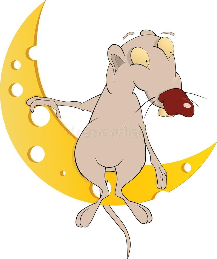 księżyc serowy szczur ilustracja wektor