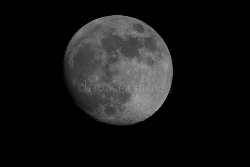 Księżyc twarz zamknięta w górę obrazy royalty free
