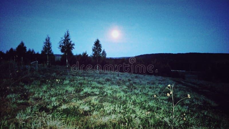 Księżyc w chmurnej nocy… obraz royalty free