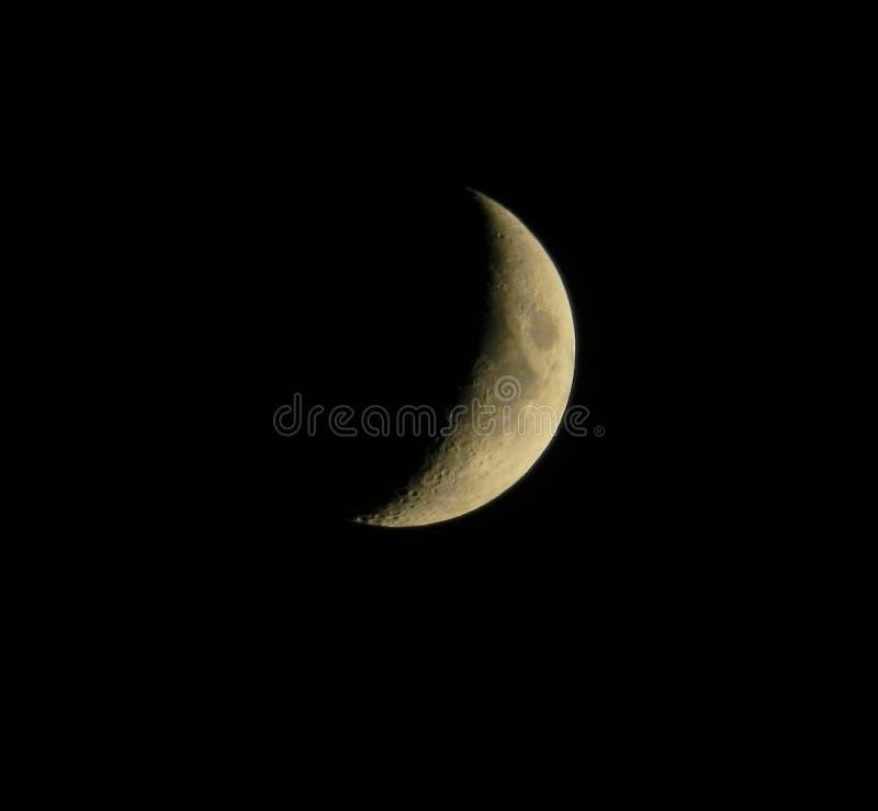 Księżyc w czarnym niebie fotografia royalty free